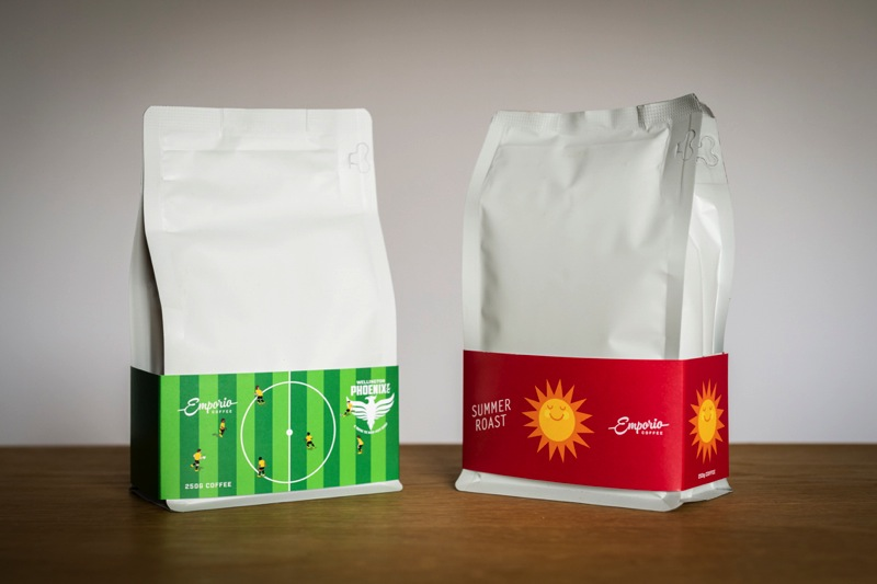Emporio Coffee's Phoenix coffee packaging