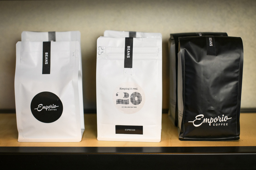 Printing labels for Emporio Coffee
