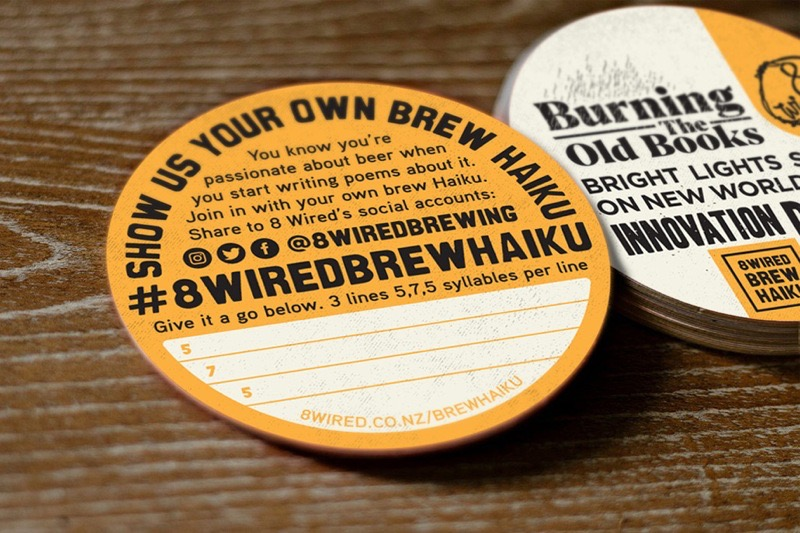 8 Wired Brew Haiku Coasters
