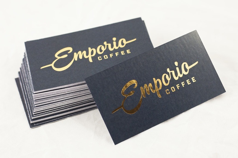 Business cards for Emporio Coffee