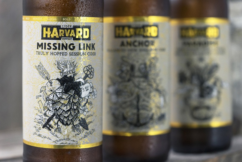 Bottle Label Artwork for Harvard Cider