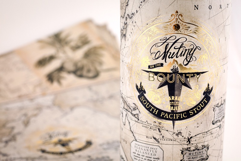 Bottle Wrap for Garage Project Mutiny on the Bounty