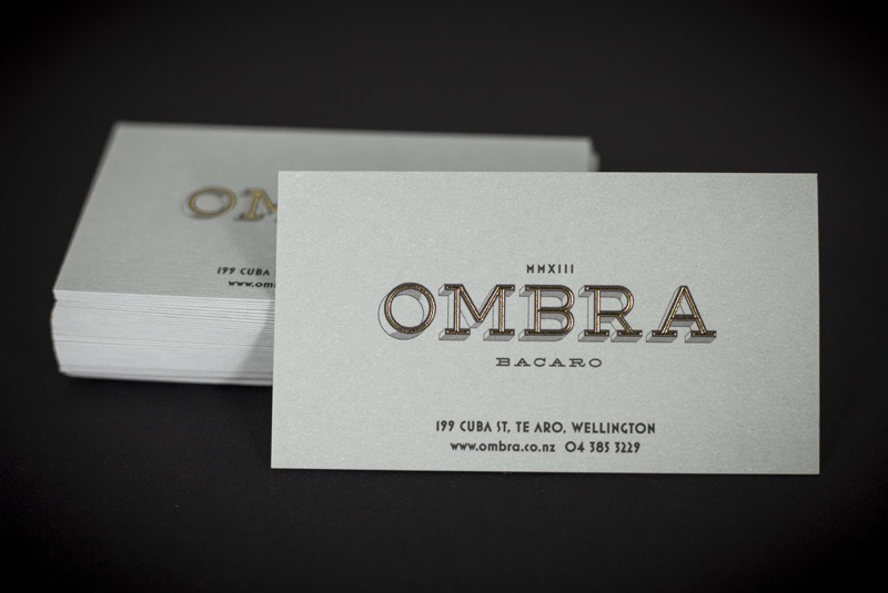 Printing business cards and vouchers for Ombra