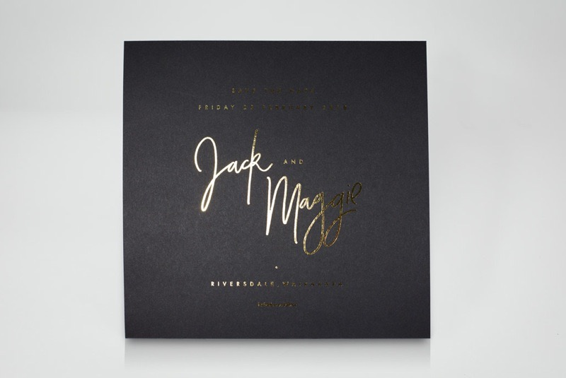 Jack & Maggie's save the date cards