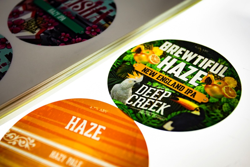 Printing backlit tap badges for the Deep Creek Brewing Co.