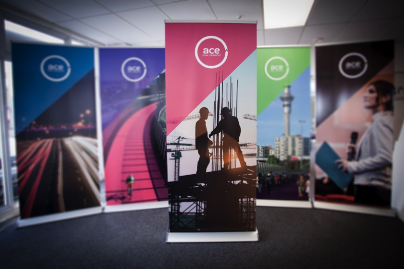 Printed pull up banners for Ace New Zealand