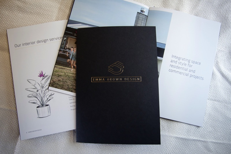 Printing promotional booklets for Emma Brown Design