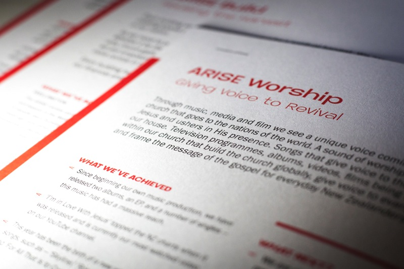 Printing Booklets, Magnets and Cards for Arise Church's Expansion Offering