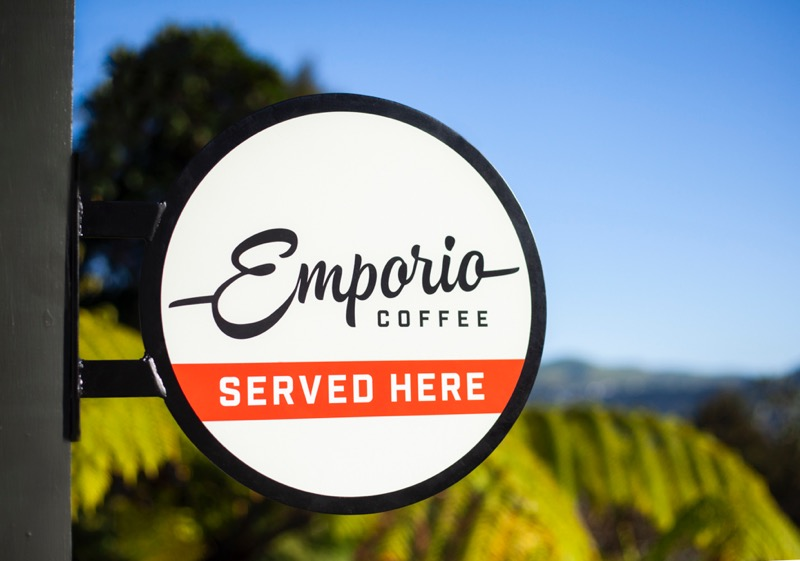 Printing Signage Decals for Emporio Coffee