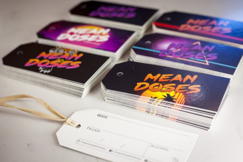 Printing growler tags for Mean Doses Brewing