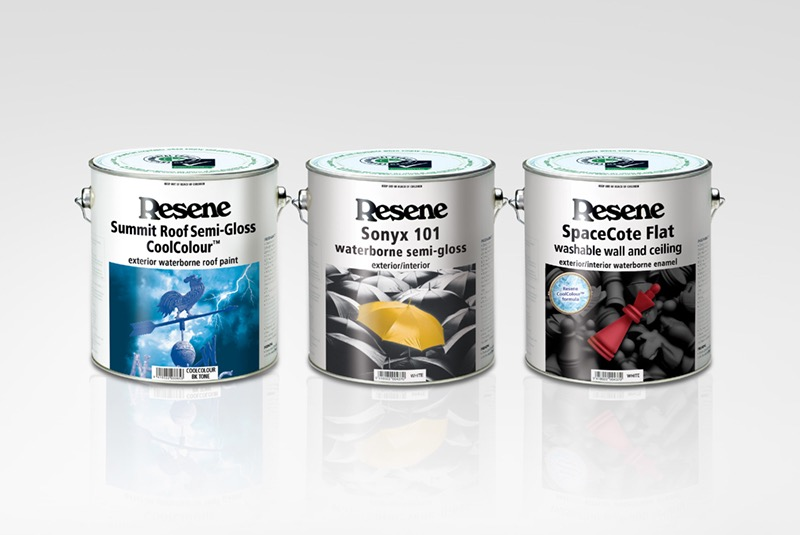 Resene paint cans samples