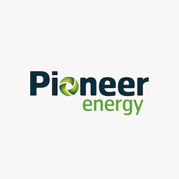 We print Pioneer Energy's spot gloss varnished business cards, envelopes and display panels.