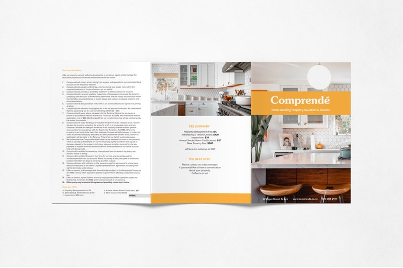 Comprende's marketing collateral